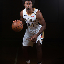 Sep 24, 2018; New Orleans, LA, USA; New Orleans Pelicans forward Solomon Hill (44) poses for a portrait during Media Day at Ochsner Performance Center. Mandatory Credit: Derick E. Hingle-USA TODAY Sports