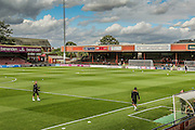 Booth Crescent prior to the Sky Bet League 2 match between York City and Mansfield Town at Bootham Crescent, York, England on 29 August 2015. Photo by Simon Davies.