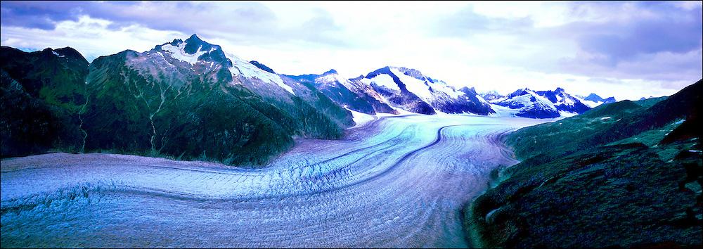 Aerial View of the Mendelson Glacier, Mendenhall Glacier, Juneau, Alaska