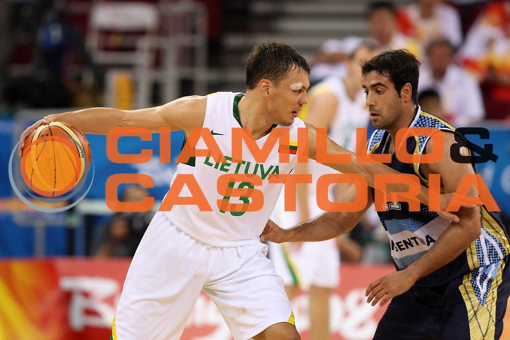DESCRIZIONE : Beijing Pechino Olympic Games Olimpiadi 2008 Final Bronze Medal 3-4 posto place Lithuania Argentina <br /> GIOCATORE : Sarunas Jasikevicius <br /> SQUADRA : Lithuania Lituania <br /> EVENTO : Olympic Games Olimpiadi 2008<br /> GARA : Lituania Argentina <br /> DATA : 24/08/2008 <br /> CATEGORIA : Palleggio <br /> SPORT : Pallacanestro <br /> AUTORE : Agenzia Ciamillo-Castoria/E.Castoria <br /> Galleria : Beijing Pechino Olympic Games Olimpiadi 2008 <br /> Fotonotizia : Beijing Pechino Olympic Games Olimpiadi 2008 Final Bronze Medal 3-4 posto place Lithuania Argentina <br /> Predefinita :
