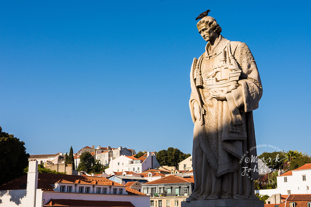 Statue of San Vincent, Portas do Sol, Lisbon, Portugal