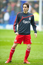 BIRMINGHAM, ENGLAND - Sunday, April 4, 2010: Liverpool's Yossi Benayoun warms-up before the Premiership match against Birmingham City at St Andrews. (Photo by David Rawcliffe/Propaganda)