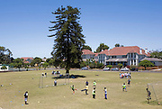"""Blind Children practise football and learn new skills from coaches, in Cape town, South Africa, through the charity """"Coaching for Hope"""". Both Hope Powell and DJ Fatboy Slim work with the charity, whose innovative programme, uses football to create better futures for young people in West and Southern Africa."""