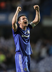 FRANK LAMPARD CELEBRATES .CHELSEA V LIVERPOOL, CL QF 2ND LEG.CHELSEA V LIVERPOOL, CL QF 2ND LEG.STAMFORD BRIDGE, LONDON, ENGLAND.14 April 2009.DIX94953..  .WARNING! This Photograph May Only Be Used For Newspaper And/Or Magazine Editorial Purposes..May Not Be Used For, Internet/Online Usage Nor For Publications Involving 1 player, 1 Club Or 1 Competition,.Without Written Authorisation From Football DataCo Ltd..For Any Queries, Please Contact Football DataCo Ltd on +44 (0) 207 864 9121