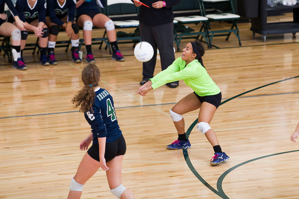 Images from Monday's varsity volleyball game between the Crane Pirates and the Springfield Catholic Lady Irish at St. Elizabeth Ann Sexton on October 21, 2013 in Springfield, Missouri. (David Welker)