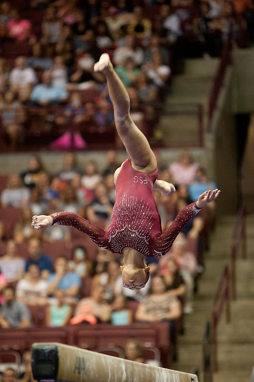 USA Gymnastics GK Classic - Schottenstein Center, Columbus, OH - July 28th, 2018. Morgan Hurd competes on the beam  at the Schottenstein Center in Columbus, OH; in the USA Gymnastics GK Classic in the senior division. Simone Biles won the allround with Riley McCusker second and Morgan Hurd third. - Photo by Wally Nell/ZUMA Press