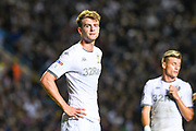 Leeds United forward Patrick Bamford (9) during the EFL Sky Bet Championship match between Leeds United and Brentford at Elland Road, Leeds, England on 21 August 2019.