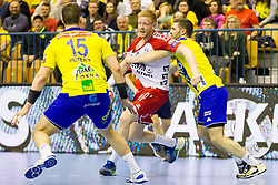 Jim Gottfridsson #24 of SG Flensburg Handewitt during handball match between RK Celje Pivovarna Lasko (SLO) and SG Flensburg Handewitt (GER) in 12th Round of EHF Men's Champions League 2015/16, on February 20, 2016 in Arena Zlatorog, Celje, Slovenia. Photo by Urban Urbanc / Sportida