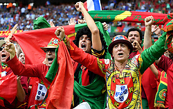 Portugal fans celebrate  - Mandatory by-line: Joe Meredith/JMP - 10/07/2016 - FOOTBALL - Stade de France - Saint-Denis, France - Portugal v France - UEFA European Championship Final