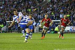 Goal, Yann Kermorgant of Reading scores from the penalty spot, Reading 1-0 Fulham - Mandatory by-line: Jason Brown/JMP - 16/05/2017 - FOOTBALL - Madejski Stadium - Reading, England - Reading v Fulham - Sky Bet Championship Play-off Semi-Final 2nd Leg