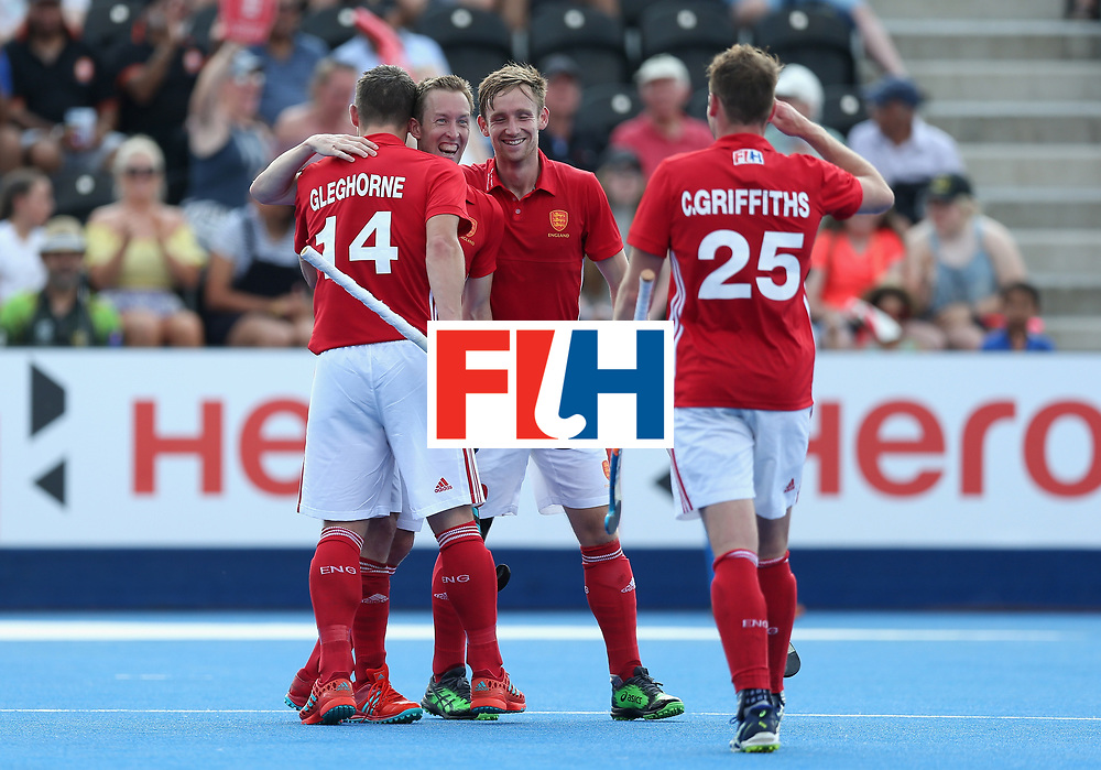LONDON, ENGLAND - JUNE 18: Barry Middleton of England celebrates scoring the third goal for England during the Hero Hockey World League Semi Final match between England and Argentina at Lee Valley Hockey and Tennis Centre on June 18, 2017 in London, England.  (Photo by Alex Morton/Getty Images)