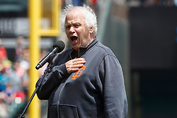 SAN FRANCISCO, CA - JUNE 25: Recording artist Barry Melton of Country Joe and the Fish sings the national anthem before the game between the San Francisco Giants and the New York Mets at AT&T Park on June 25, 2017 in San Francisco, California. The New York Mets defeated the San Francisco Giants 8-2. (Photo by Jason O. Watson/Getty Images) *** Local Caption *** Barry Melton