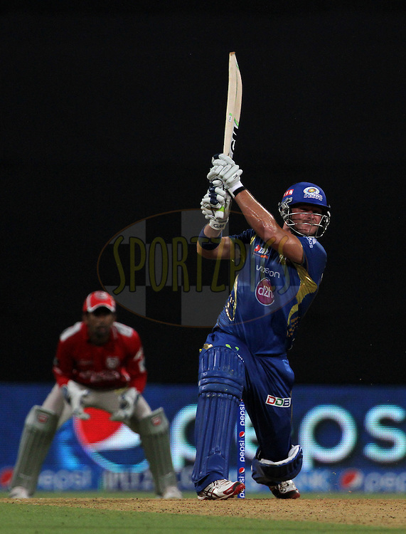 Corey Anderson of the Mumbai Indians plays a shot during match 22 of the Pepsi Indian Premier League Season 2014 between the Mumbai Indians and the Kings XI Punjab held at the Wankhede Cricket Stadium, Mumbai, India on the 3rd May  2014<br /> <br /> Photo by Vipin Pawar / IPL / SPORTZPICS<br /> <br /> <br /> <br /> Image use subject to terms and conditions which can be found here:  http://sportzpics.photoshelter.com/gallery/Pepsi-IPL-Image-terms-and-conditions/G00004VW1IVJ.gB0/C0000TScjhBM6ikg