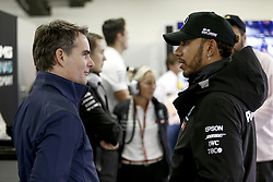October 27, 2018 - Mexico-City, Mexico - Motorsports: FIA Formula One World Championship 2018, Grand Prix of Mexico, ..Jeff Gordon, #44 Lewis Hamilton (GBR, Mercedes AMG Petronas Motorsport) (Credit Image: © Hoch Zwei via ZUMA Wire)