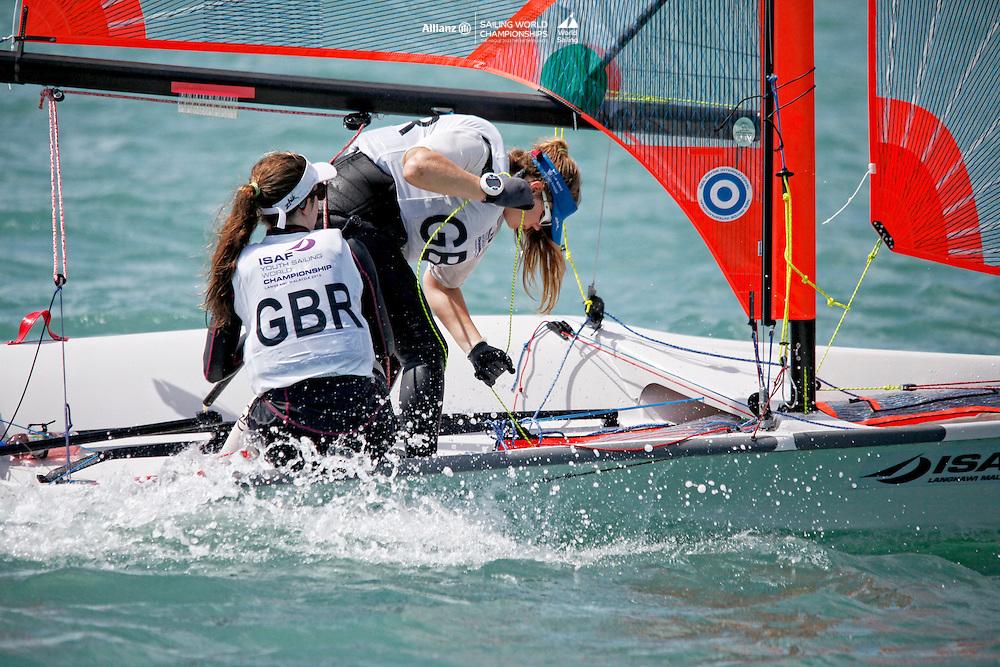 United Kingdom29erWomenCrewGBRHW36HarrietWard<br />United Kingdom29erWomenHelmGBRCB98CourtneyBilbrough<br />Day5, 2015 Youth Sailing World Championships,<br />Langkawi, Malaysia