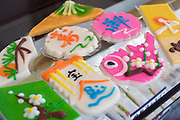 Photo shows handmade kamaboko products processed and packaged at  Oizen Shoten's  factory in Tome City, Miyagi Prefecture, Japan on 11 Sept. 2012. Photographer: Robert Gilhooly