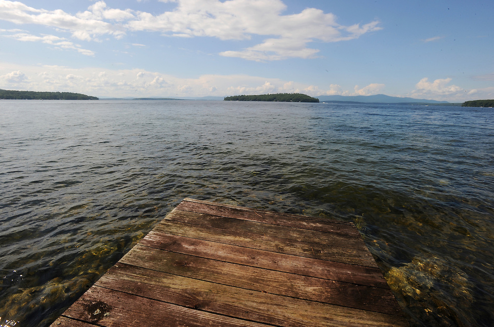 A view from Sleeper Point in Lake Winnipesaukee, New Hampshire