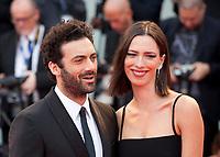 Morgan Spector and Rebecca Hall at the premiere of the film Suburbicon at the 74th Venice Film Festival, Sala Grande on Saturday 2 September 2017, Venice Lido, Italy.