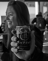 Can of Hot Coca. Gondola ride down Mt Komagatake. Fuji Hakone Izy National Park. Image taken with a  Fuji X-T1 camera and 35 mm f/1.4 lens.