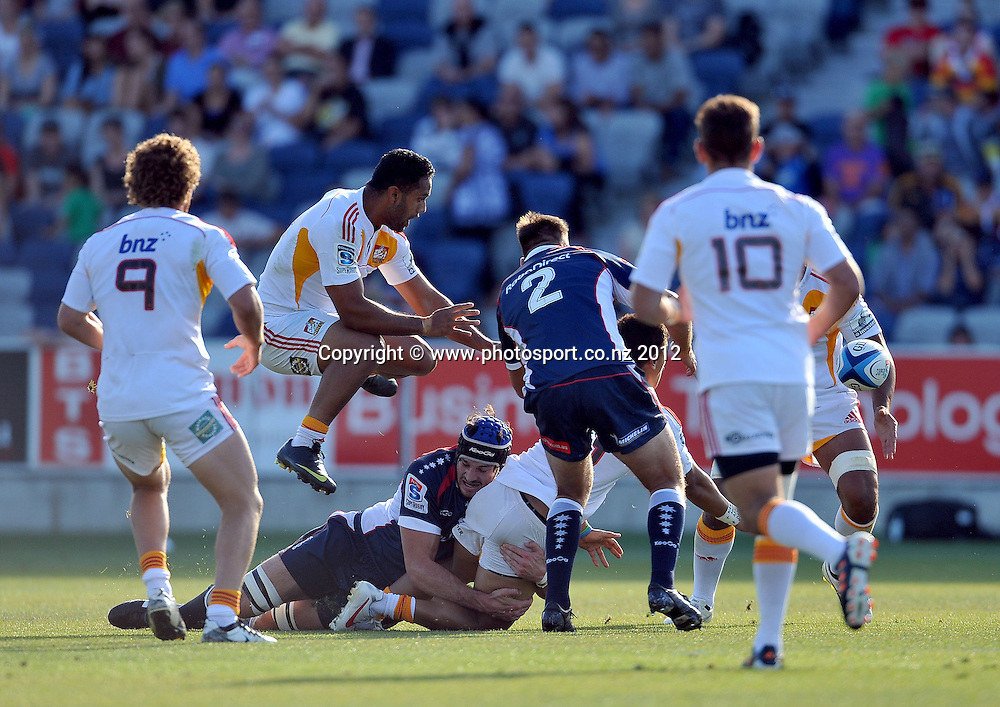 action vs Rebels (Chiefs)<br /> Rebels vs Chiefs<br /> Rugby Union - 2012 Super Rugby<br /> Simonds Stadium, Geelong<br /> Friday 3 February 2012<br /> &copy; Sport the library / Jeff Crow