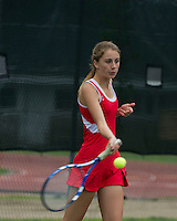 St Paul's School girls varsity tennis May 22, 2013.  Karen Bobotas Photographer