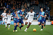 Peterborough United forward Ivan Toney (17) drives forward during the EFL Sky Bet League 1 match between Wycombe Wanderers and Peterborough United at Adams Park, High Wycombe, England on 3 November 2018.