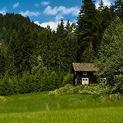 Old wooden farmhouse from the eastern Norway.