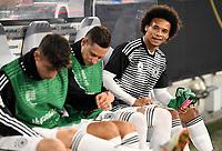 FUSSBALL UEFA Nations League in Muenchen Deutschland - Frankreich       06.09.2018 Leroy Sane (Deutschland) sitzt zu Beginn des Spiels nur auf der Bank --- DFB regulations prohibit any use of photographs as image sequences and/or quasi-video. ---