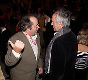 Danny Baker and Jonathan Pryce, First night for 'The Producers' at the Theatre Royal, Drury Lane and afterwards at the Waldorf Astoria. ONE TIME USE ONLY - DO NOT ARCHIVE  © Copyright Photograph by Dafydd Jones 66 Stockwell Park Rd. London SW9 0DA Tel 020 7733 0108 www.dafjones.com