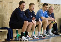 Bostjan Kavas and Nejc Poklar  at Open training session for the public of Slovenian handball National Men team before European Championships Austria 2010, on December 27, 2009, in Terme Olimia, Podcetrtek, Slovenia.  (Photo by Vid Ponikvar / Sportida)