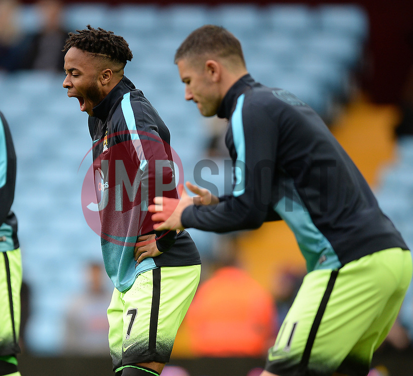 Raheem Sterling of Manchester City yawns during the warm up. - Mandatory byline: Alex James/JMP - 07966 386802 - 08/11/2015 - FOOTBALL - Villa Park - Birmingham, England - Aston Villa v Manchester City - Barclays Premier League