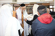 Circumcision - Brit Mila Ceremony in a synagogue