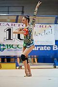Agnese Duranti of the Italian Rhythmic Gymnastics Team during training in Desio, 08 February 2020.