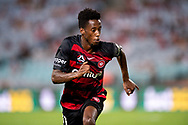 SYDNEY, NSW - JANUARY 18: Western Sydney Wanderers forward Bruce Kamau (11) runs after the ball at the Hyundai A-League Round 14 soccer match between Western Sydney Wanderers and Adelaide United at ANZ Stadium in NSW, Australia 18 January 2019. Image by (Speed Media/Icon Sportswire)