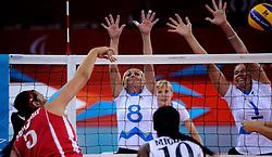 01-09-2012 ZITVOLLEYBAL: PARALYMPISCHE SPELEN 2012 USA - SLOVENIE: LONDEN<br />In ExCel South Arena wint USA van Slovenie / Danica GOSNAK, Anita GOLTNIK URNAUT<br />©2012-FotoHoogendoorn.nl