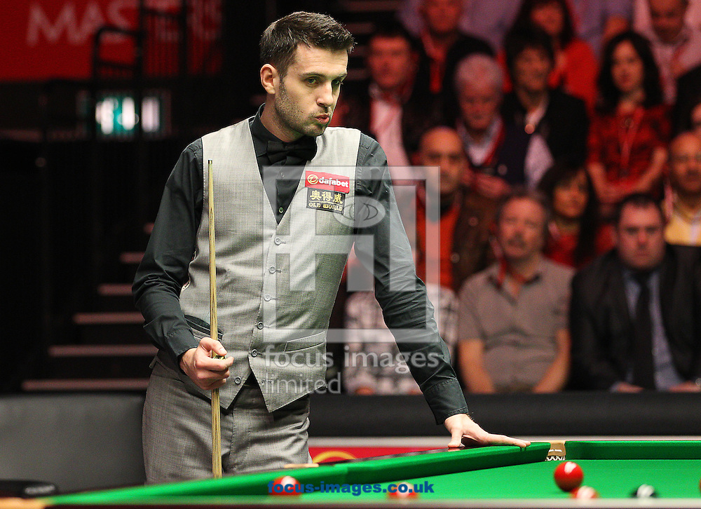 Picture by Paul Terry/Focus Images Ltd +44 7545 642257<br /> 19/01/2014<br /> Mark Selby looks on after playing a shot during The Masters final at Alexandra Palace, London.