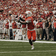 University of Houston running back, Duke Catalon, 2, catches a pass during the first half of the game.<br /> <br /> Todd Spoth for The New York Times.