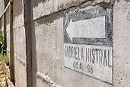 The Gabriella Mistral street, Vicuña, Chile