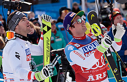 14.03.2018, Aare, SWE, FIS Weltcup Ski Alpin, SWE, FIS Weltcup Ski Alpin, Finale, Aare, Abfahrt, Herren, im Bild 14.03.2018, Aare, SWE, FIS Weltcup Ski Alpin, Finale, Aare, Abfahrt, Herren, im Bild // f.l. race winner Vincent Kriechmayr of Austria Downhill World Cup winner and third placed for the Downhill Beat Feuz of Switzerland reacts after his run of men's downhill of FIS Ski Alpine World Cup finals in Aare, Sweden on 2018/03/14. EXPA Pictures © 2018, PhotoCredit: #AGENTUR#/ Johann Groder // f.l. race winner Vincent Kriechmayr of Austria Downhill World Cup winner and third placed for the Downhill Beat Feuz of Switzerland reacts after his run of men's downhill of FIS Ski Alpine World Cup finals in Aare, Sweden on 2018/03/14. EXPA Pictures © 2018, PhotoCredit: EXPA/ Johann Groder<br /> <br /> *****ATTENTION - #RESTRICTION#*****