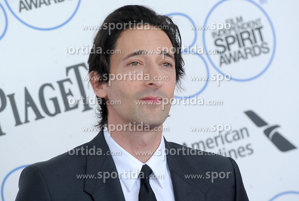 Adrien Brody at the 30th Film Independent Spirit Awards 2015 - Arrivals 1, Santa Monica Beach, Santa Monica, CA February 21, 2015. EXPA Pictures &copy; 2015, PhotoCredit: EXPA/ Photoshot/ Dennis Van Tine<br /> <br /> *****ATTENTION - for AUT, SLO, CRO, SRB, BIH, MAZ only*****
