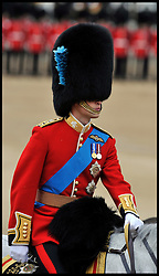 Prince William takes part in the Queen's Trooping of the Colour, The Queen's Birthday Parade, on Horse Guards Parade, Saturday June 16, 2012. Photo by Andrew Parsons/i-Images..All Rights Reserved ©Andrew Parsons/i-Images .See Special Instructions