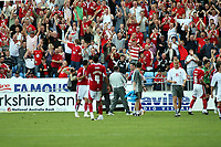 Photo: Mark Stephenson.<br /> Coventry City v Bristol City. Coca Cola Championship. 15/09/2007.Bristol's Liam Fontaine celebrates there win with the fans