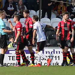 Lewis Vaughan is not happy with the ref  during the St Mirren v Dumbarton Scottish Championship 08 April 2017<br /> <br /> <br /> <br /> <br /> <br /> (c) Andy Scott | SportPix.org.uk