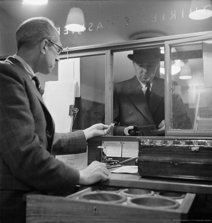Olympia Car Park, Pay Desk, London, 1937