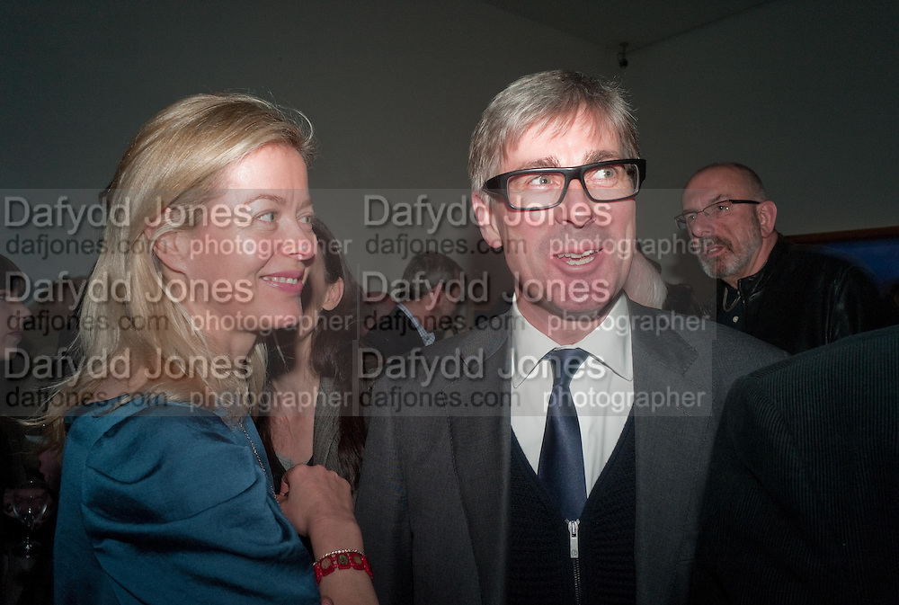 LADY HELEN TAYLOR; TIMOTHY TAYLOR, Craigie Aitchison - private view<br /> Memorial retrospective, Timothy Taylor Gallery, 15 Carlos Place, London 28 March 2012.