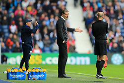 West Ham United manager Slaven Bilic complains to the assistant referee - Mandatory by-line: Paul Roberts/JMP - 16/09/2017 - FOOTBALL - The Hawthorns - West Bromwich, England - West Bromwich Albion v West Ham United - Premier League