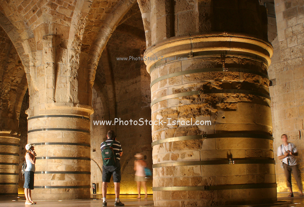 Israel, Acre, The subterranean crusaders knight's halls in old Akko