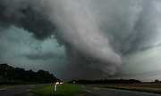 Photo by Gary Cosby Jr.  A massive tornado sweeps across Limestone County Wednesday, April 27, 2011 following the same track as a killer tornado in the 1974 outbreak.  The tornado was rated an EF5 on the Enhanced Fujita scale and killed 71 people across north Alabama.