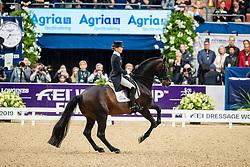 Langehanenberg Helen, GER, Damsey FRH<br /> Göteborg - Gothenburg Horse Show 2019 <br /> FEI Dressage World Cup™ Final II<br /> Grand Prix Freestyle/Kür<br /> Longines FEI Jumping World Cup™ Final and FEI Dressage World Cup™ Final<br /> 06. April 2019<br /> © www.sportfotos-lafrentz.de/Stefan Lafrentz