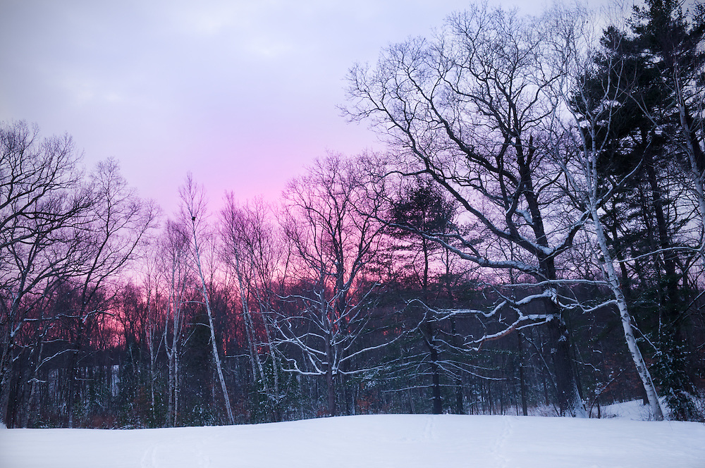 A Winter's Sunset in New England